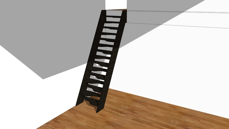 Alternating Tread Stair 3D Warehouse   Alternating Tread Stair Design   Staggered   Style   Wood   Multipurpose   Double Thickness Tread
