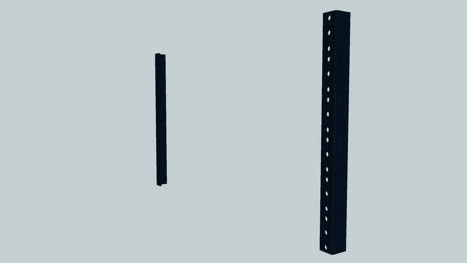 19 rack rails scalable 3d warehouse