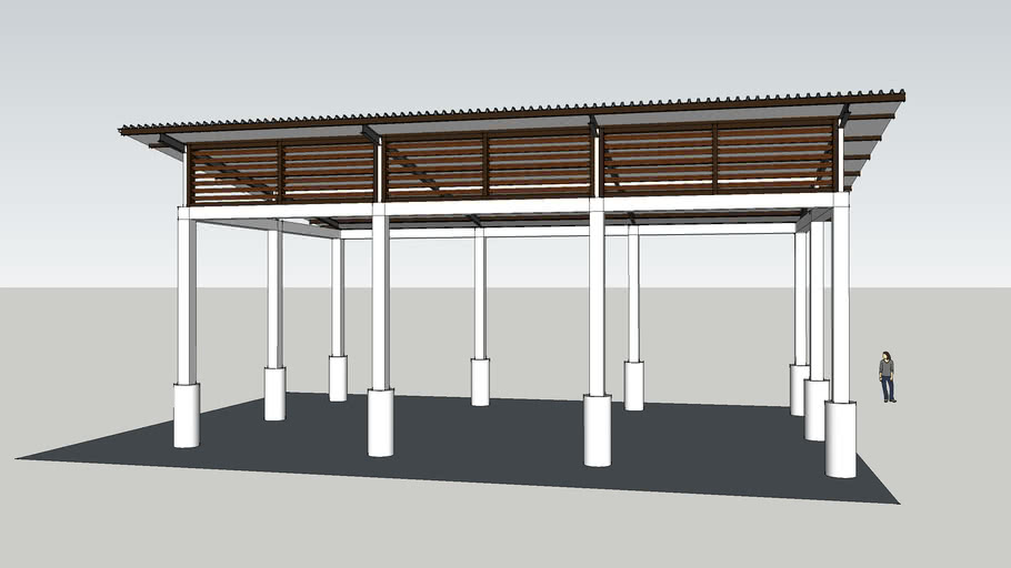 kanopi baja design steel canopy 3d warehouse
