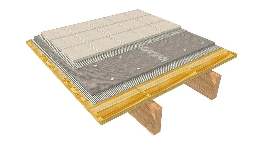09 03 floor tile over cbu at wood
