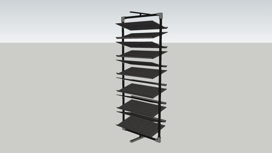 rotating shoe rack 3d warehouse