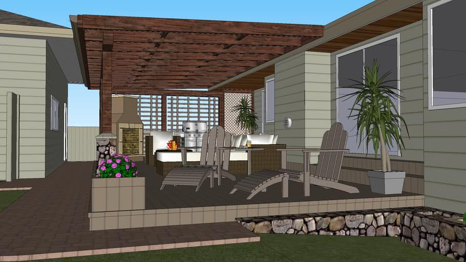 outdoor living room 3d warehouse