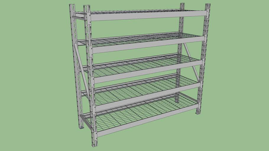 modular industrial storage rack 3d