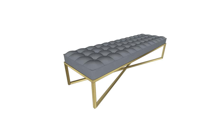 ottoman bench brass frame modern 2 3d