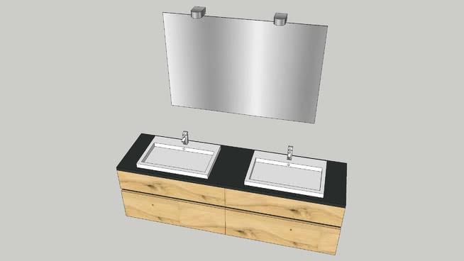 Meuble Double Vasques 3d Warehouse
