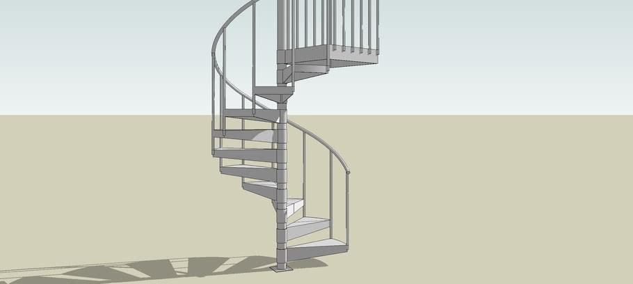 Salter Industries Outdoor Spiral Staircase 3D Warehouse   Outdoor Spiral Staircase Installation   Simple   3 Floor   Outdoor   Backyard   Roof Deck