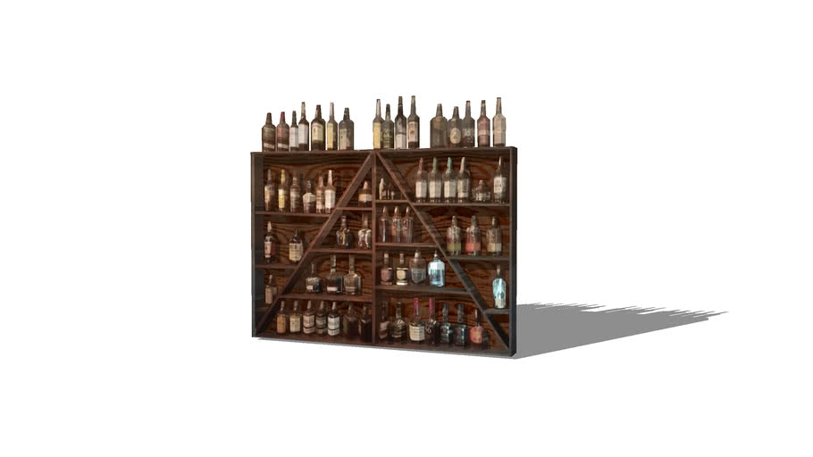 bar liquor shelf 3d warehouse