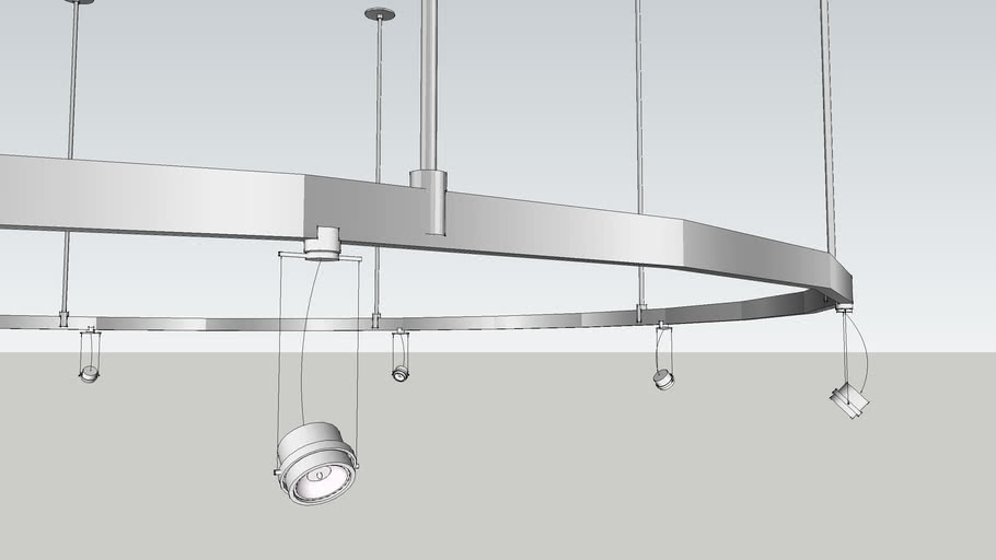 8 round track light system 3d warehouse