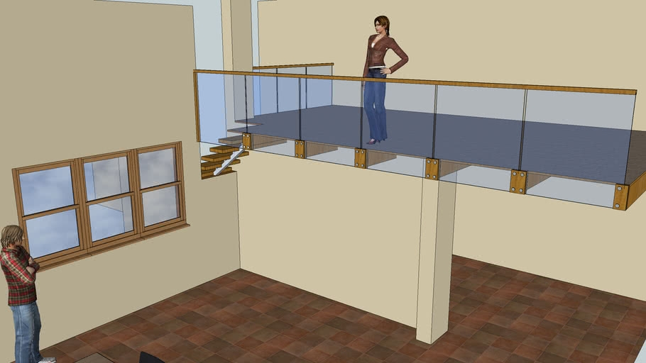 Floating Staircase And Frameless Glass Balustrade 3D Warehouse | Floating Stairs With Glass Railing | Wall | Commercial | Glass Staircase | Thin Glass | Modern
