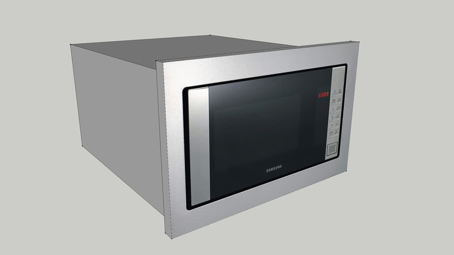 built in microwave samsung 3d warehouse