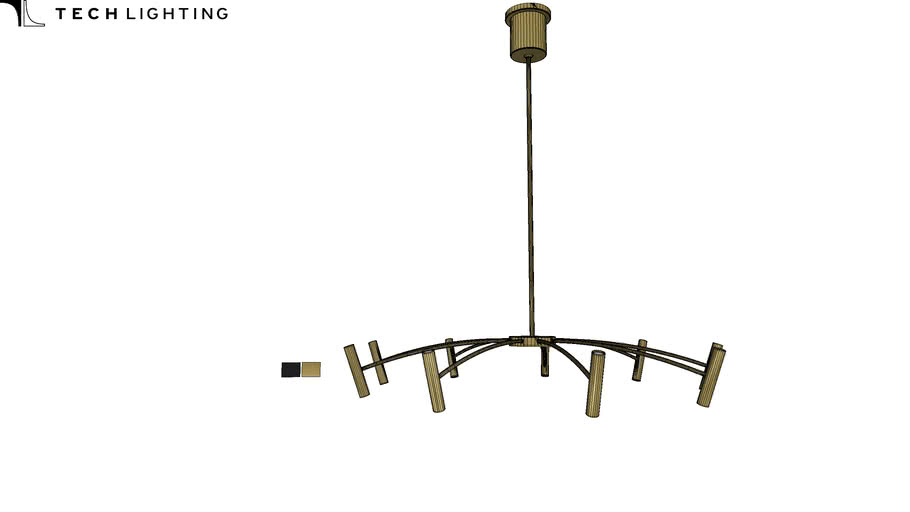 aerial 40 chandelier by tech lighting