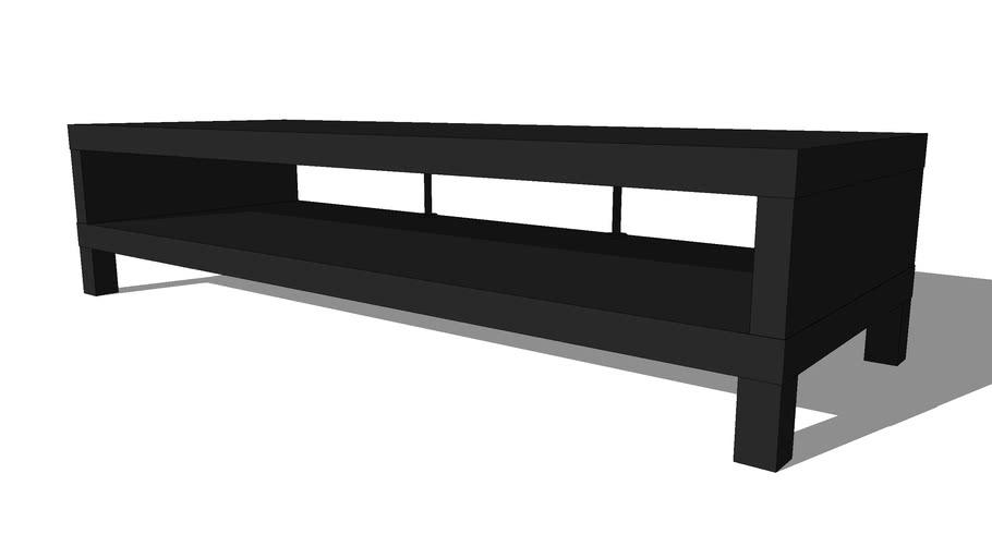 meuble tv ikea lack brun noir 3d