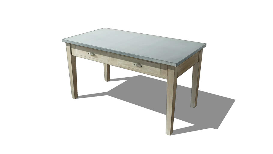 table a diner zinc maisons du monde