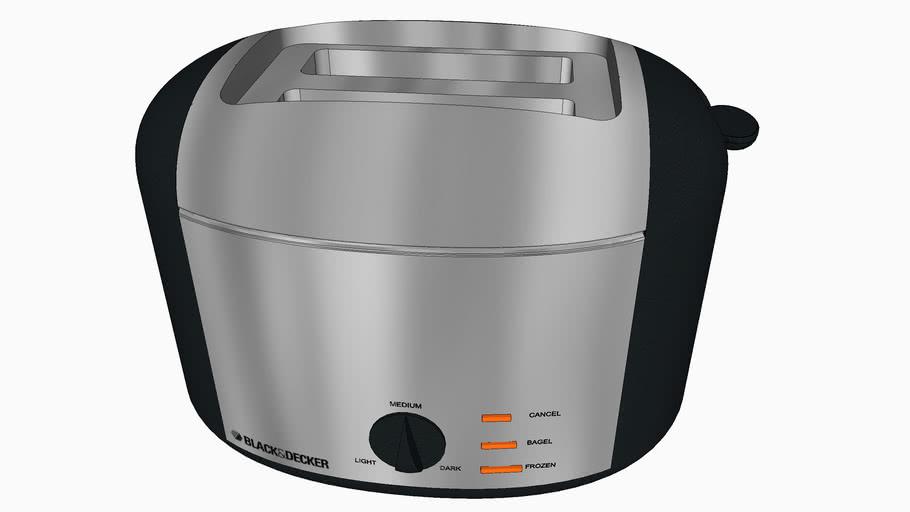 grille pain toaster black decker 3d