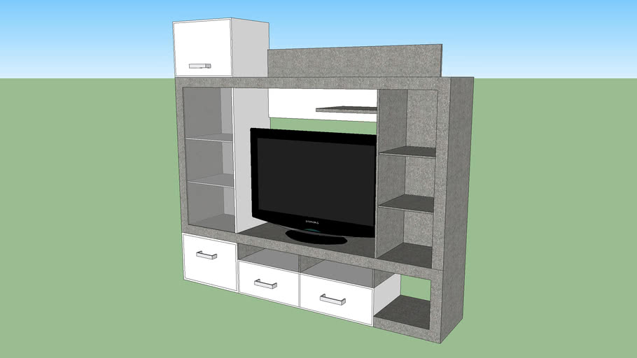 meuble tv stone but 3d warehouse