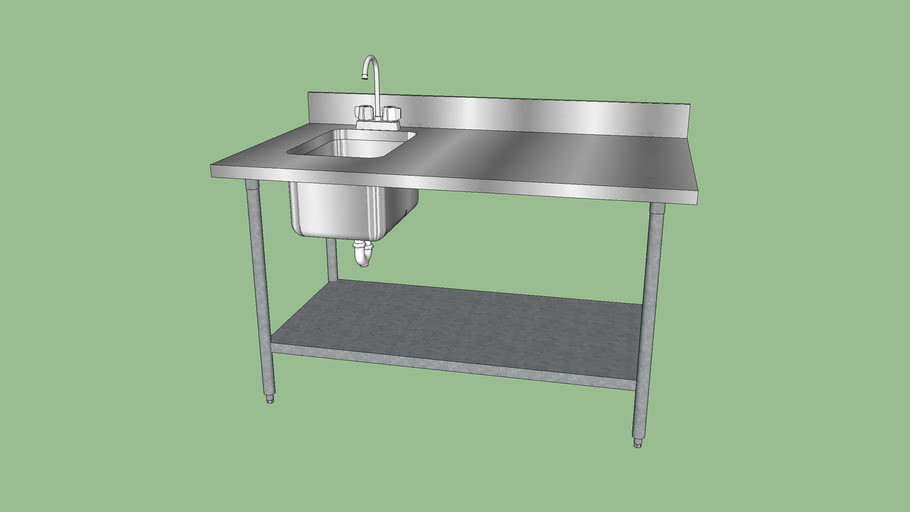prep table with sink 3d warehouse