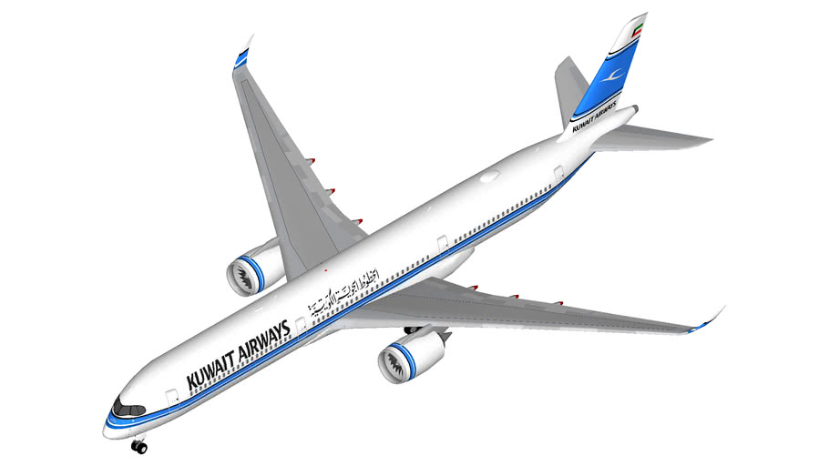 Kuwait Airways Airbus A350-1000   3D Warehouse