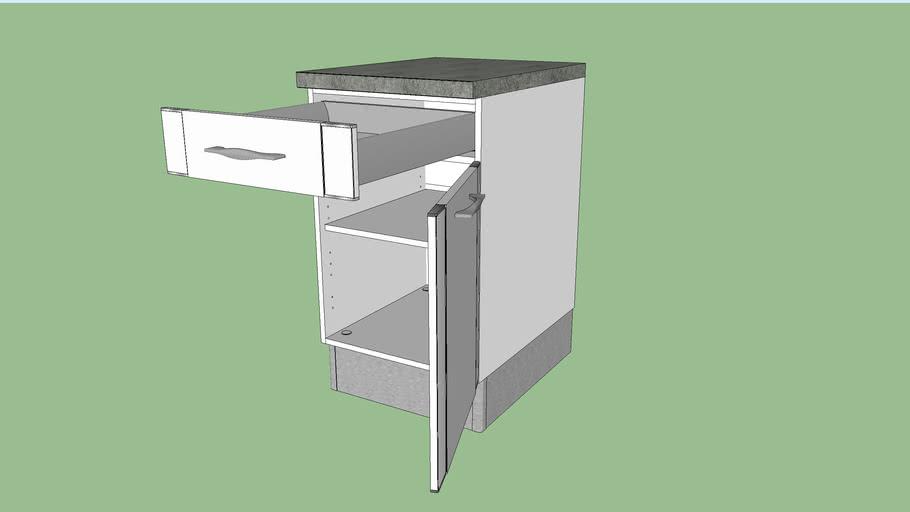 1 tiroir silver lapeyre 3d warehouse