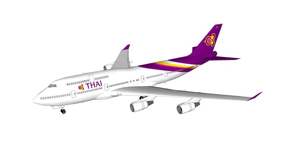 Thai Airways International Boeing 747-400 in current