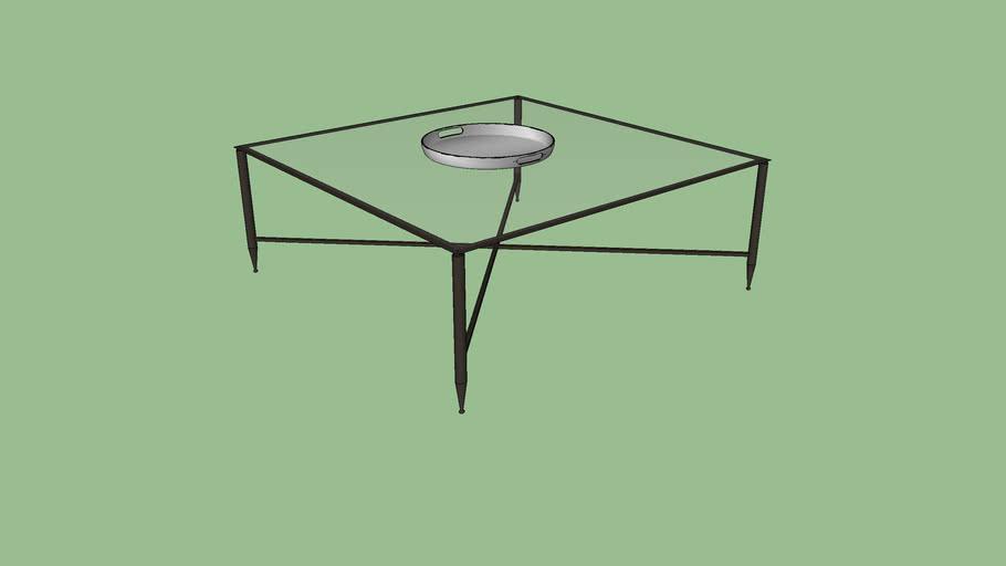 thaddeus forged iron glass square
