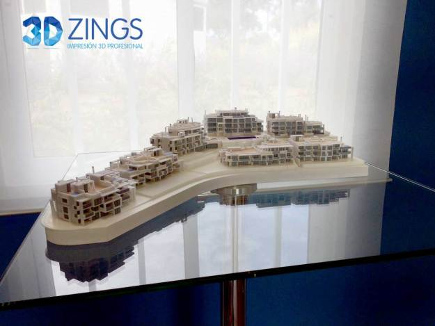 IMG de impresión 3d de maqueta de edificios