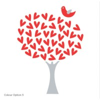 Heart Tree Wall Sticker for Girls Room or Nursery