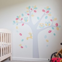 Owl Tree Wall Sticker for Nursery