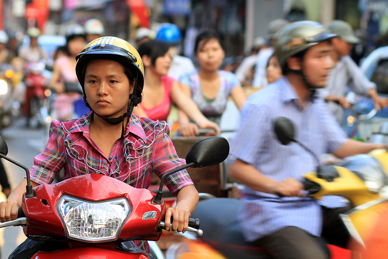 Commuters in Hanoi, Vietnam. Source: AdamCohn's flickr photostream, used under a creative commons license.