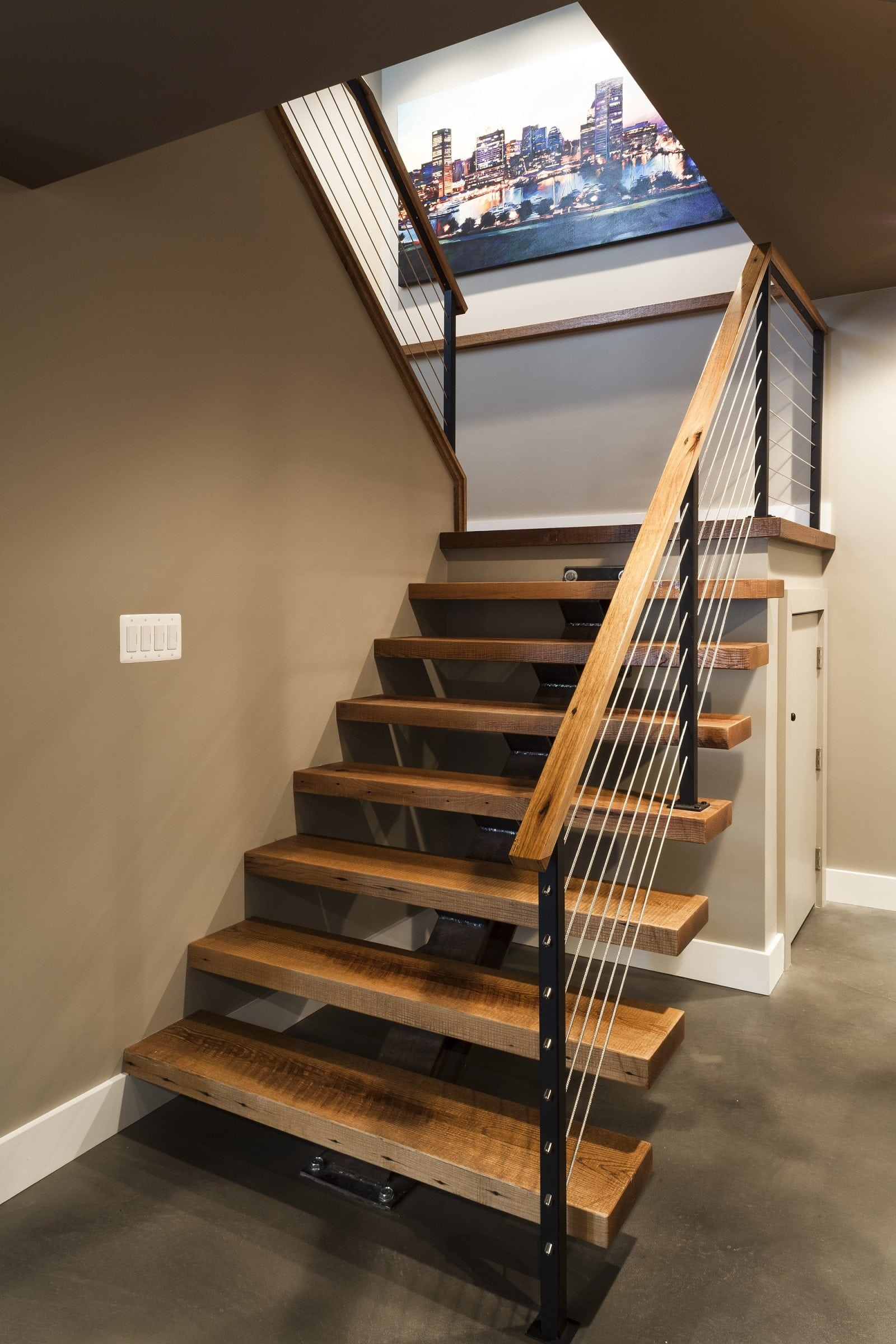 Cable Railing Vs Wood Railing Owings Brothers Contracting | Diy Interior Cable Railing | Front Step | 42 Inch | Modern | Wire | Low Cost