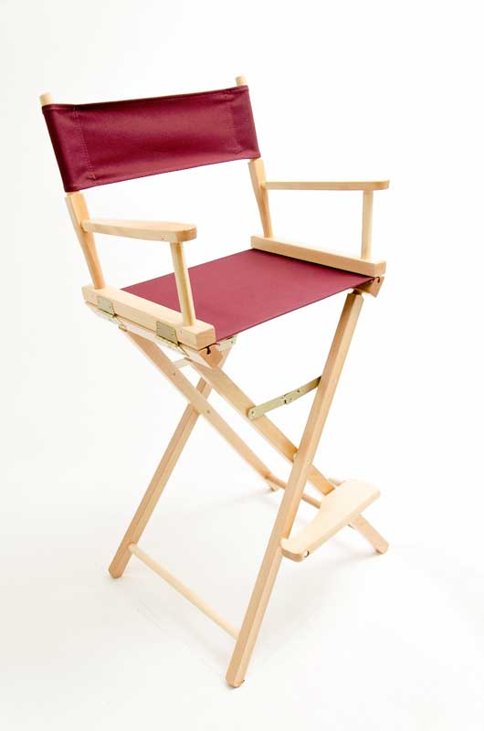 Gold Medal Directors Chair  Contemporary Natural 30