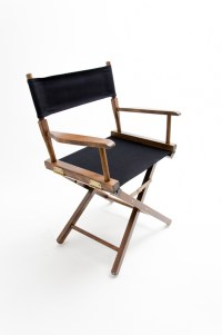 """Gold Medal Directors Chair - Commercial Walnut 18"""" Black ..."""