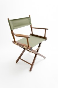 """Gold Medal Directors Chair - Commercial Walnut 18"""" Olive ..."""