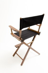 """Gold Medal Directors Chair - Commercial Walnut 24"""" Black ..."""