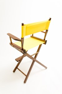 """Gold Medal Directors Chair - Commercial Walnut 24"""" Yellow ..."""