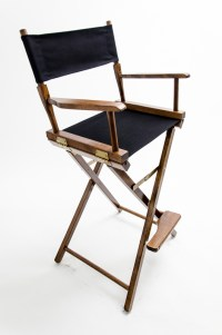 """Gold Medal Directors Chair - Commercial Walnut 30"""" Black ..."""