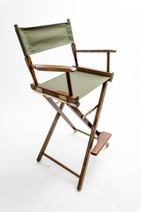 """Gold Medal Directors Chair - Commercial Walnut 30"""" Olive ..."""