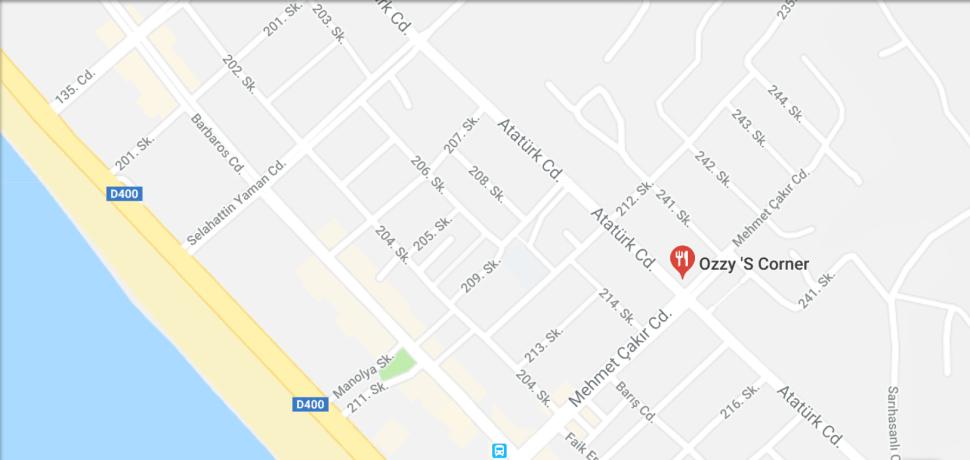 Ozzys Bar Mahmutlar - Map and Location