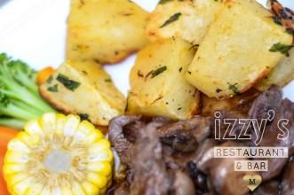 Izzys Bar in Mahmutlar - sizzling beef