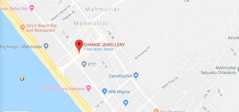 MAP FOR CHANGE JEWELLERY MAHMUTLAR