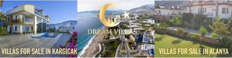 VILLAS FOR SALE IN ALANYA KARGICAK DREAM VILLAS IN TURKEY