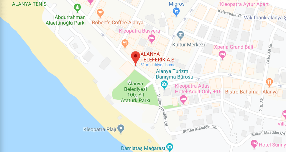 MAP SHOWING LOCATION OF CLEOPATRA BEACH CRAFT MARKET