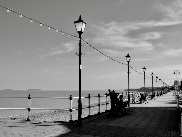 PENARTH ESPLANADE Black and White framed photographic prints for sale