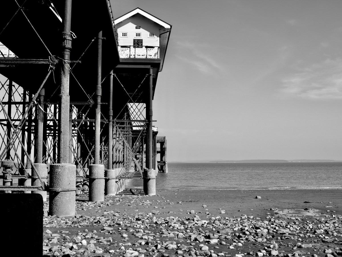 Penarth Pier, black and white print