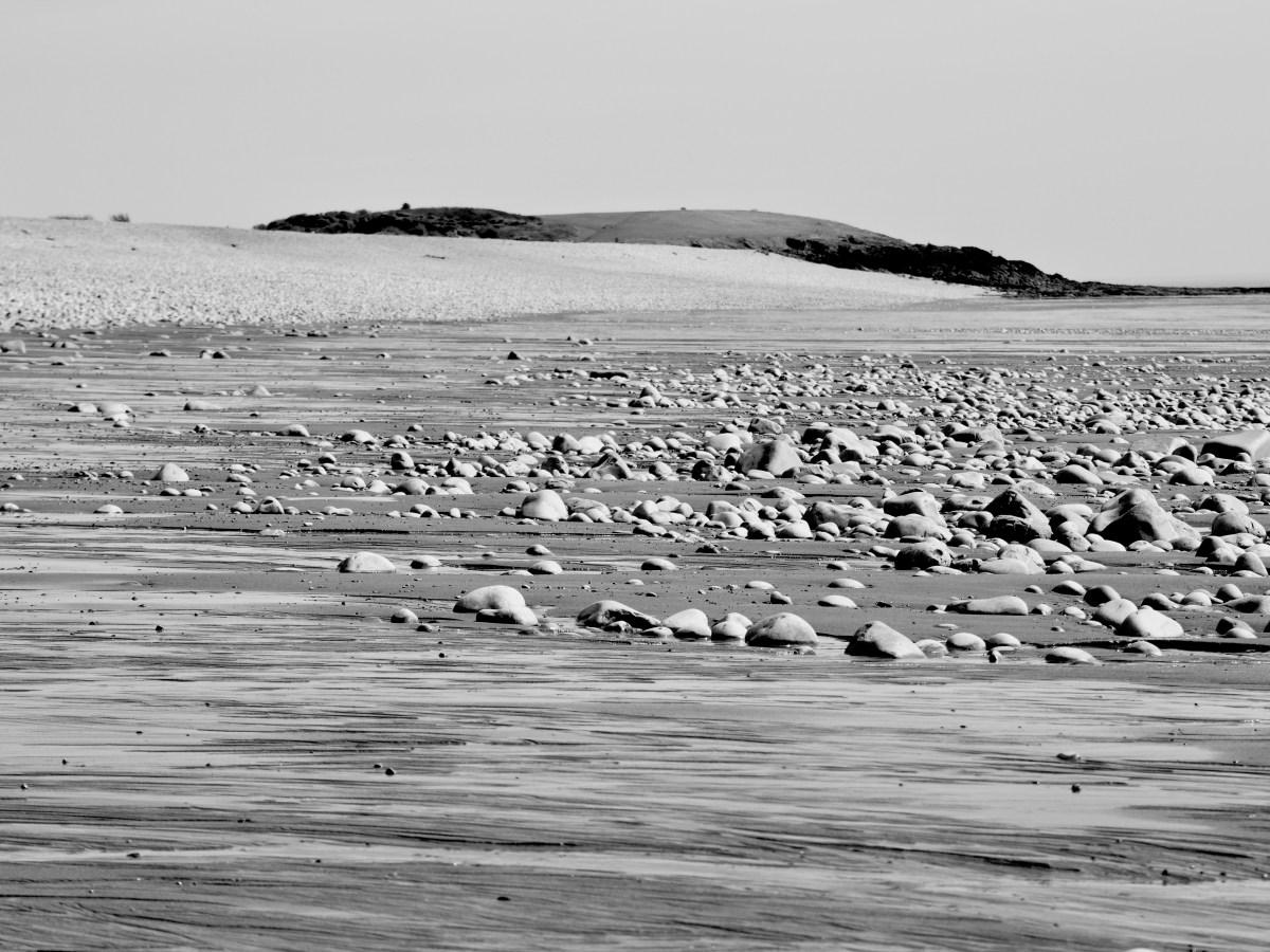 Black and white prints of Cold Knap in lockdown