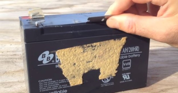 Remove the Top Cover | How to Revive Sealed Lead Acid Batteries