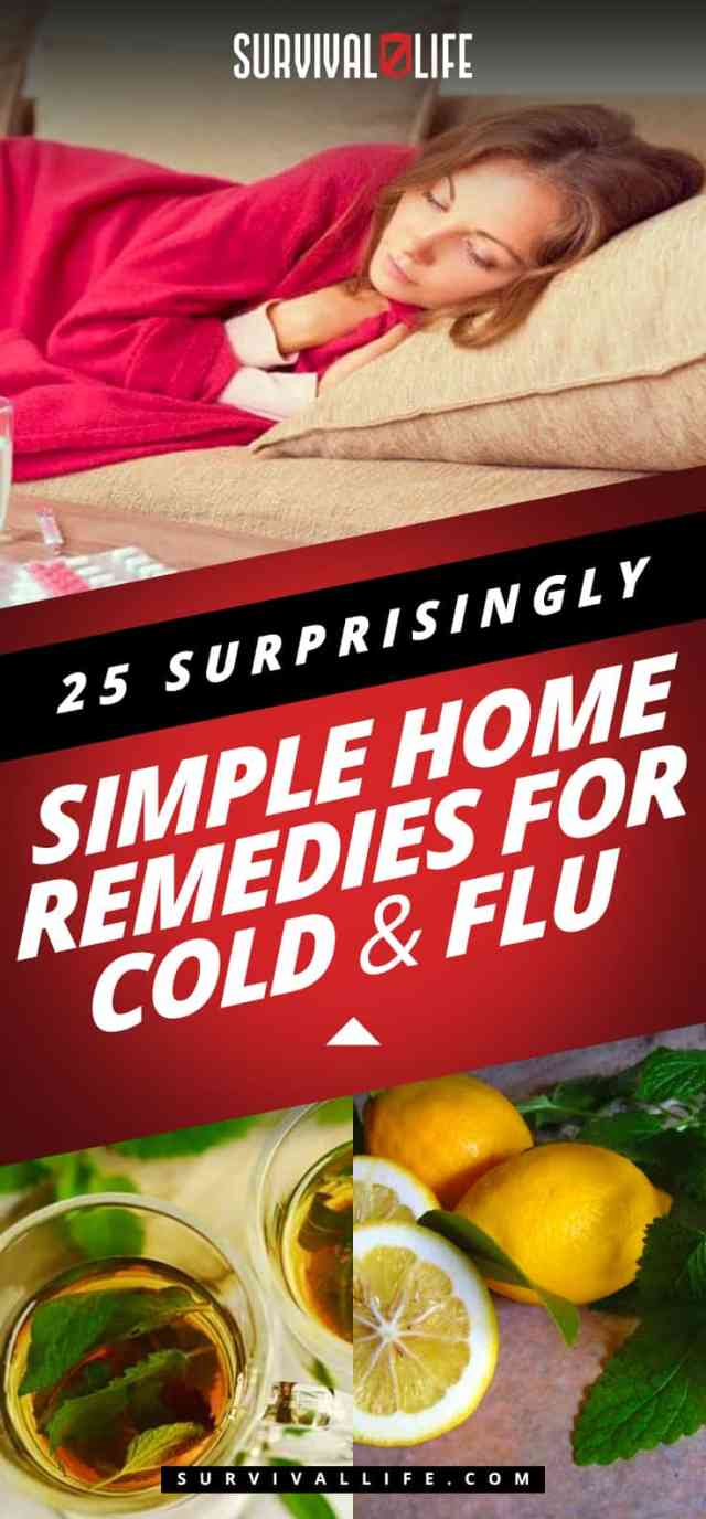 Placard | Home Remedies For Cold And Flu | 25 Surprisingly Simple Natural Relief