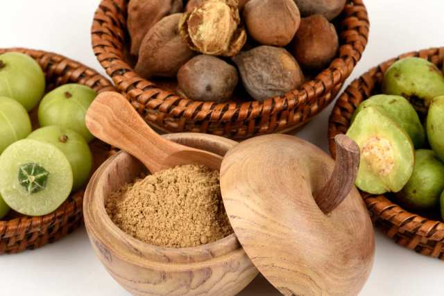 Three fruits on a wooden basket | Ayurvedic Remedies for Better Health