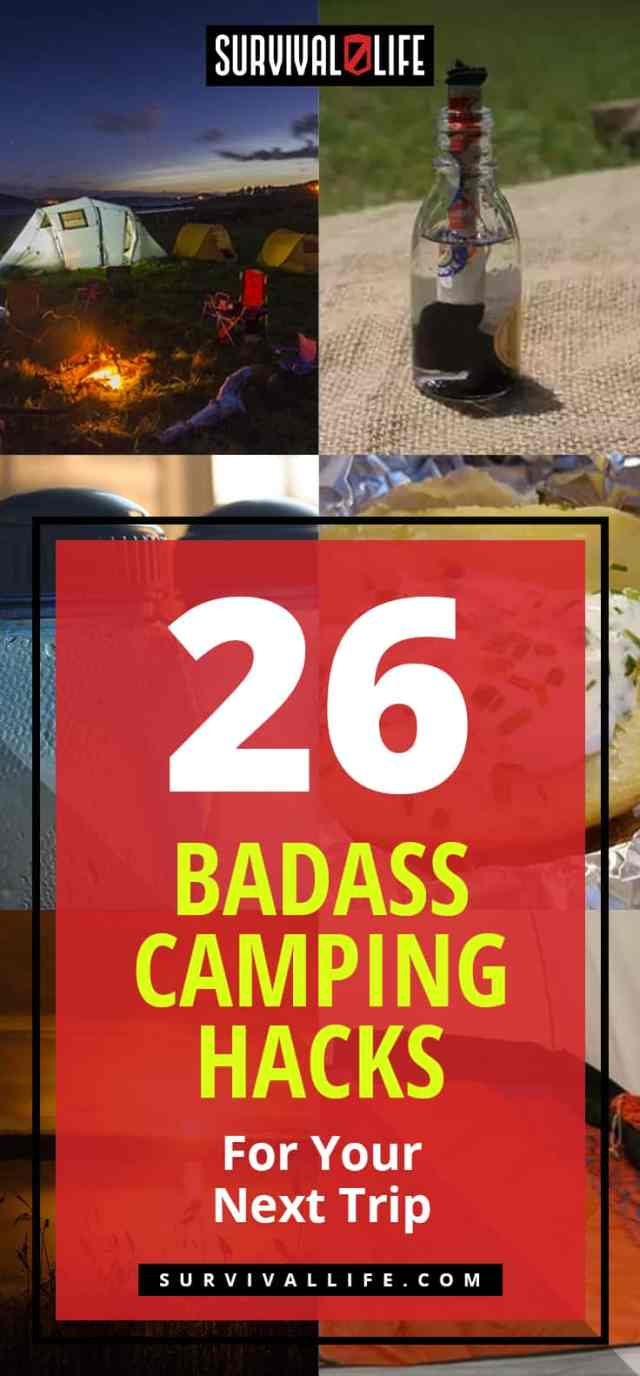 Placard | Camping hacks | Badass Camping Hacks For Your Next Trip
