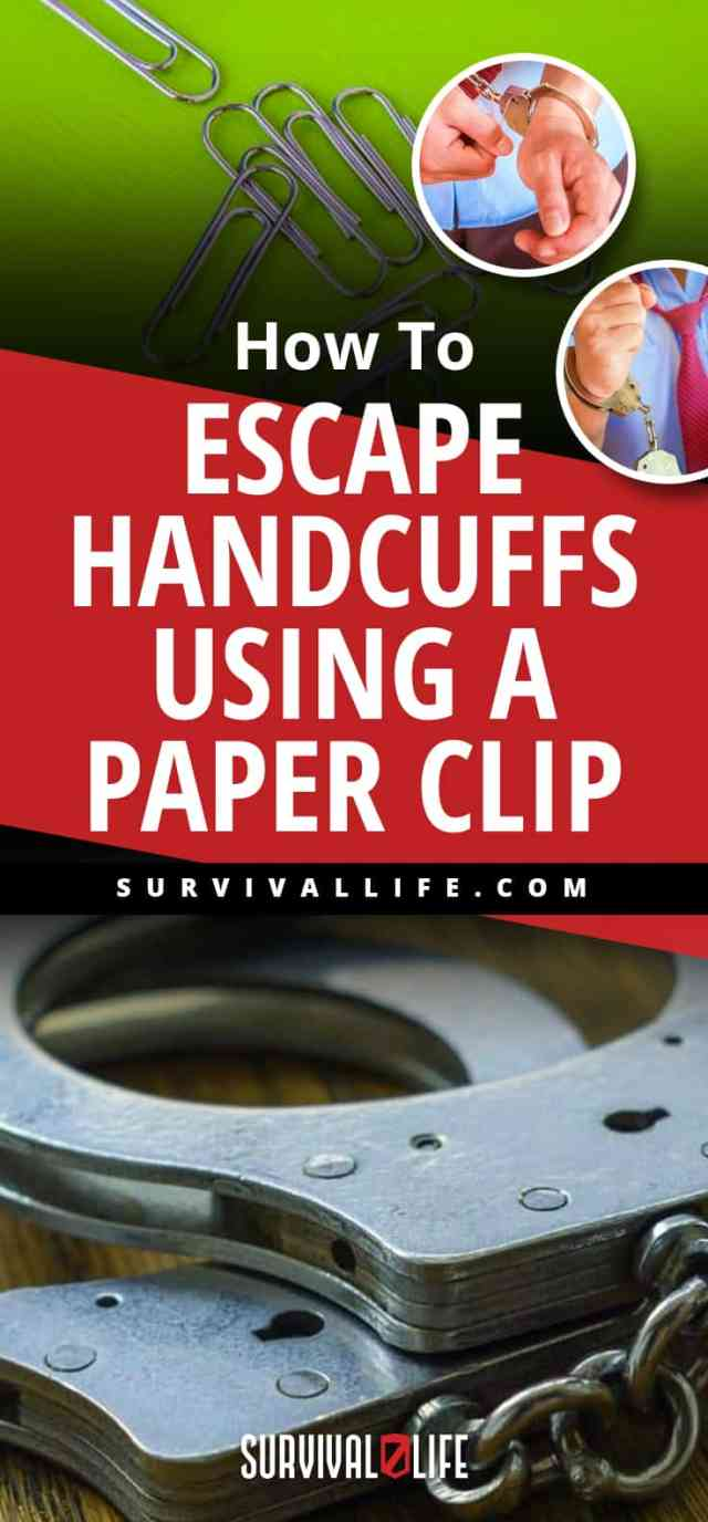 Placard | How To Escape Handcuffs Using A Paper Clip