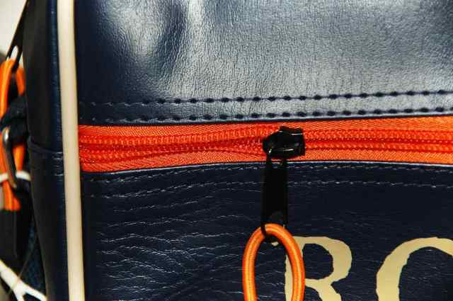 Leather bag orange zipper | Uses for Paracord That Will Surprise You